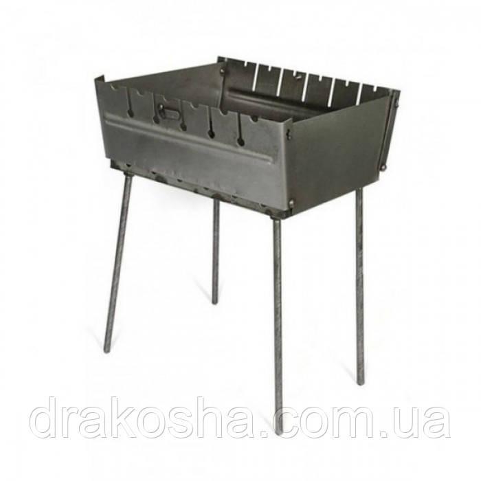 Раскладной мангал чемодан 2 мм на 6 шампуров