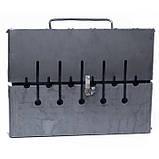 Раскладной мангал чемодан 2 мм на 6 шампуров, фото 4