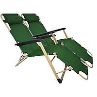 Комплект шезлонгов Bonro 180 см темно-зеленый (2шт), фото 1