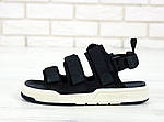 Женские летние сандалии New Balance (черно-белые) 11900, фото 4