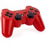 Беспроводной Джойстик Sony Геймпад PS3 для Sony PlayStation PS Красный, фото 3