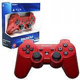 Беспроводной Джойстик Sony Геймпад PS3 для Sony PlayStation PS Красный, фото 5
