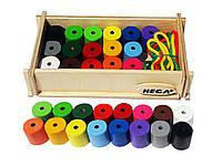 Шнурівка Hega  Інклюзія 16 кольорів. Набір для рахунку.  (135), фото 1