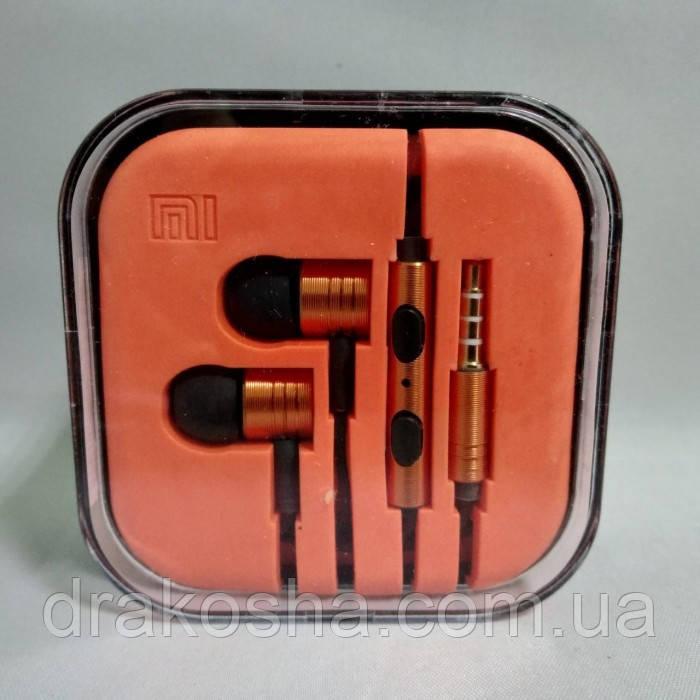 Вакуумные наушники гарнитура MDR M3 Оранжевые