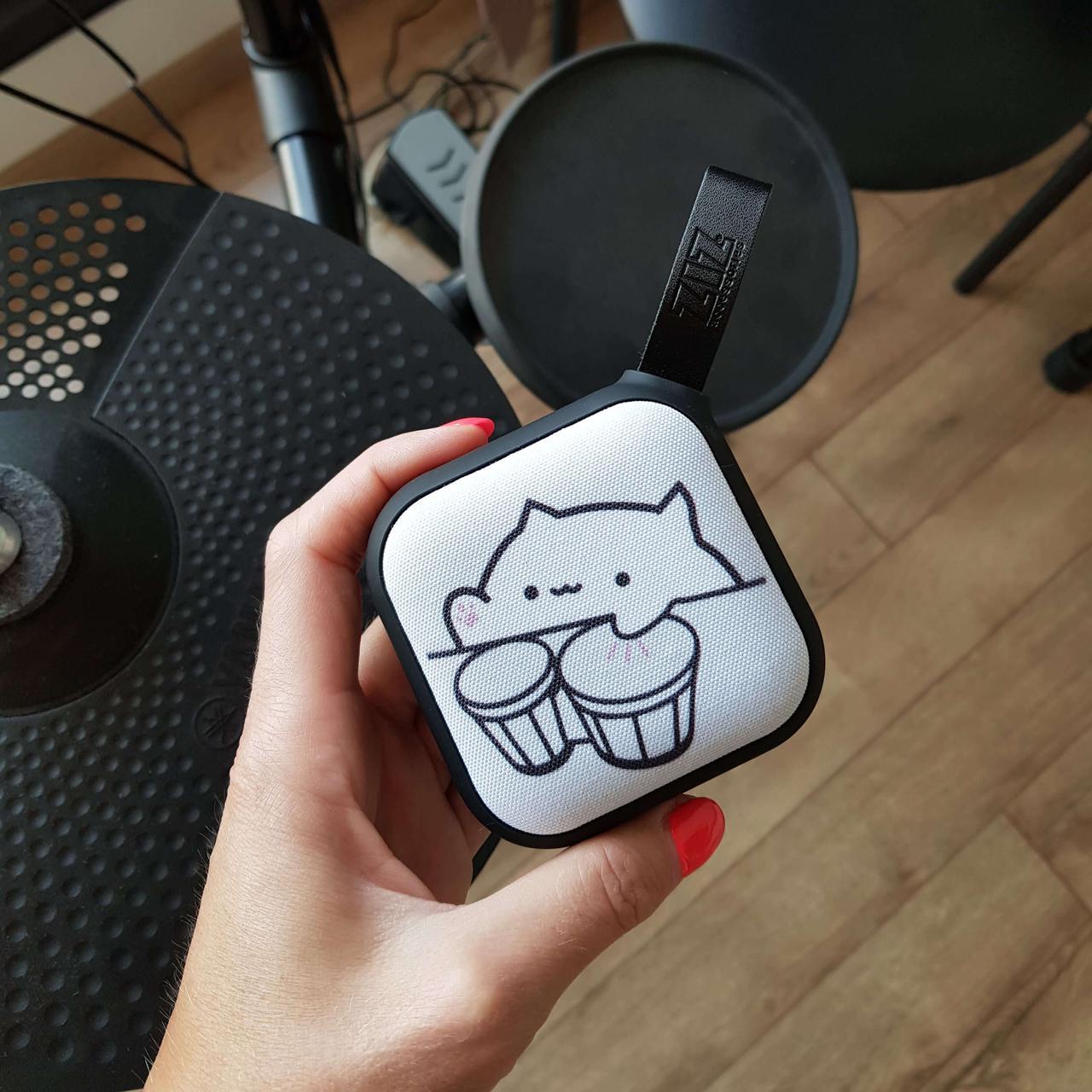 Портативная Bluetooth колонка ZIZ Бонго кот, переносная блютуз колонка, беспроводная блютус акустика