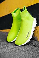 Кросівки жіночі весняні осінні якісні модні Balenciaga Speed Trainer Yellow BB, фото 1