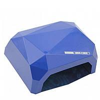 Лампа гибридная для ногтей и шеллака Crystal Diamond CCFL+LED 36 Вт гибрид, Синяя