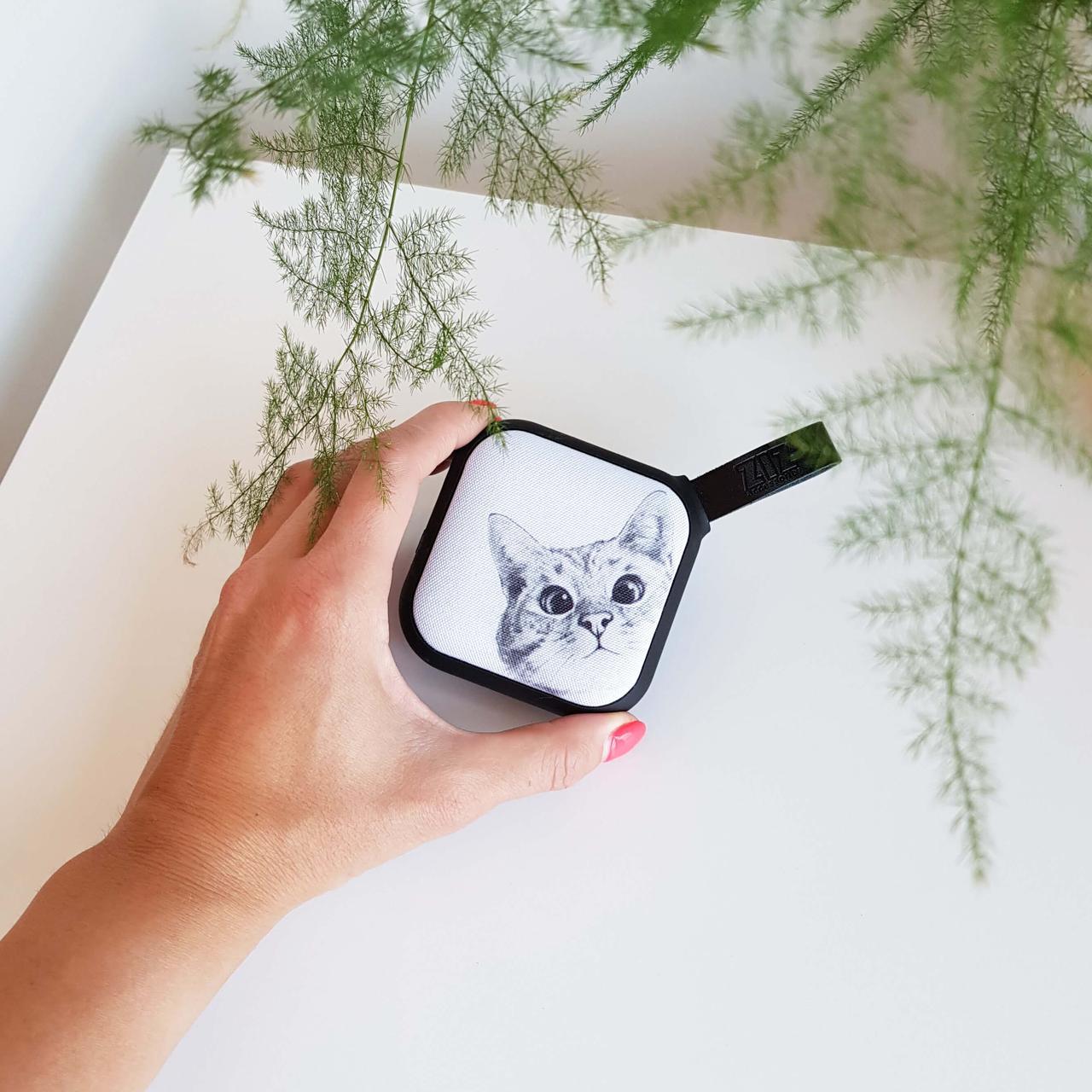 Портативная Bluetooth колонка ZIZ Эй, Кот, переносная блютуз колонка, беспроводная блютус акустика