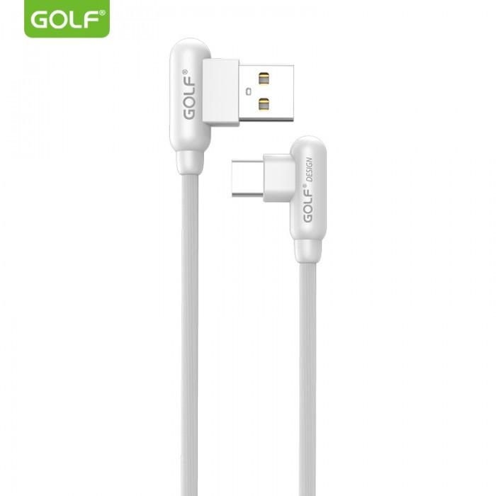 Шнур для зарядки Type-C USB GOLF GC-45 кабель 2,4A Белый