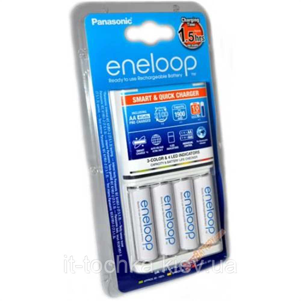 Автоматическое зарядное устройство eneloop panasonic smart quick charger (bq-cc55e)