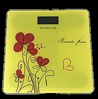 Весы напольные Domotec YZ-1604 желтые