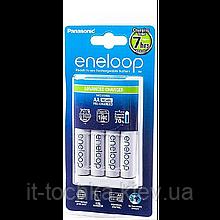 Зарядное устройство для аккумуляторов eneloop panasonic advanced charger и 4хaa 1900 mah (k-kj17mcc40e)