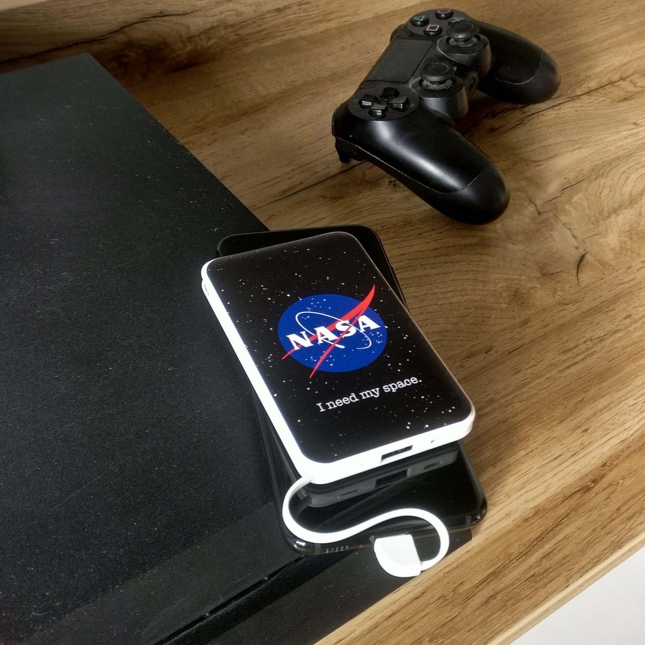 Повербанк с рисунком ZIZ НАСА 5000 mAh Powerbank, повер банк, power bank, портативный аккумулятор
