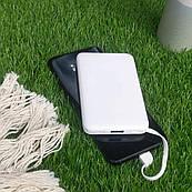 Повербанк с рисунком ZIZ Белый 5000 mAh Powerbank, повер банк, power bank, портативный аккумулятор