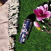 Термокружка ZIZ с рисунком Розы, термос, термостакан с крышкой, термочашка непроливайка 380 мл