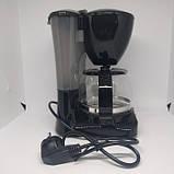 Капельная кофеварка Crownberg CB-1561 кофе машина 800BT, фото 2