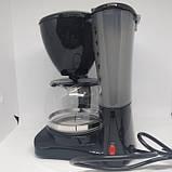 Капельная кофеварка Crownberg CB-1561 кофе машина 800BT, фото 4