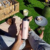 Термокружка ZIZ с рисунком Сердечко, термос, термостакан с крышкой, термочашка непроливайка 380 мл