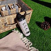 Термокружка ZIZ з малюнком Котик в чашці, термос, термочашку, термочашка непроливайка 380 мл