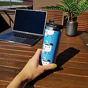 Термокружка ZIZ с рисунком Рабочий чай, термос, термостакан + крышка, термочашка непроливайка 380 мл