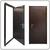 Стальная дверь одностворчатая.