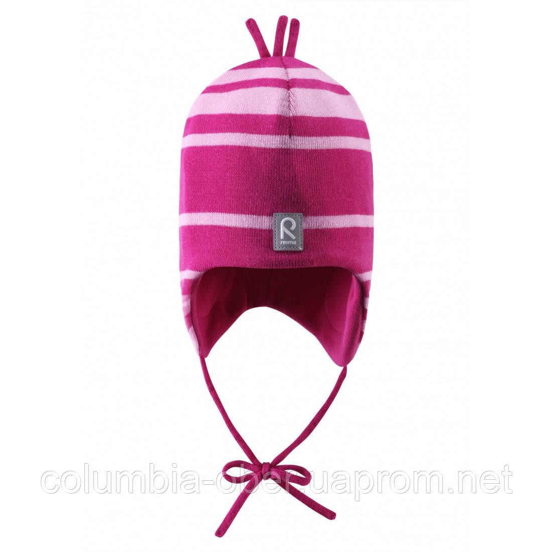 Шерстяная зимняя шапка Reima Auva 518241-4620. Размер 46, 48, 50 и 52.