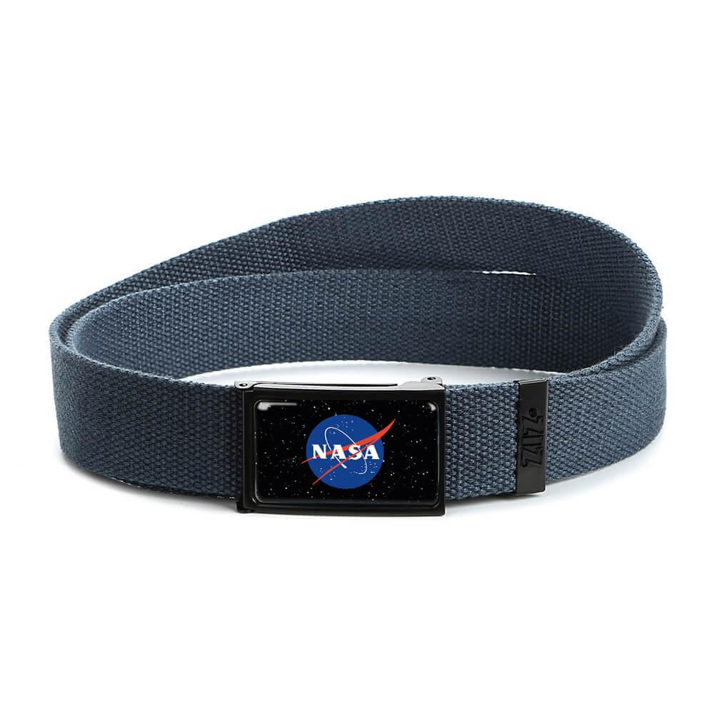 Ремінь з малюнком ZIZ НАСА синій, унісекс, жіночий пояс, ремінь чоловічий