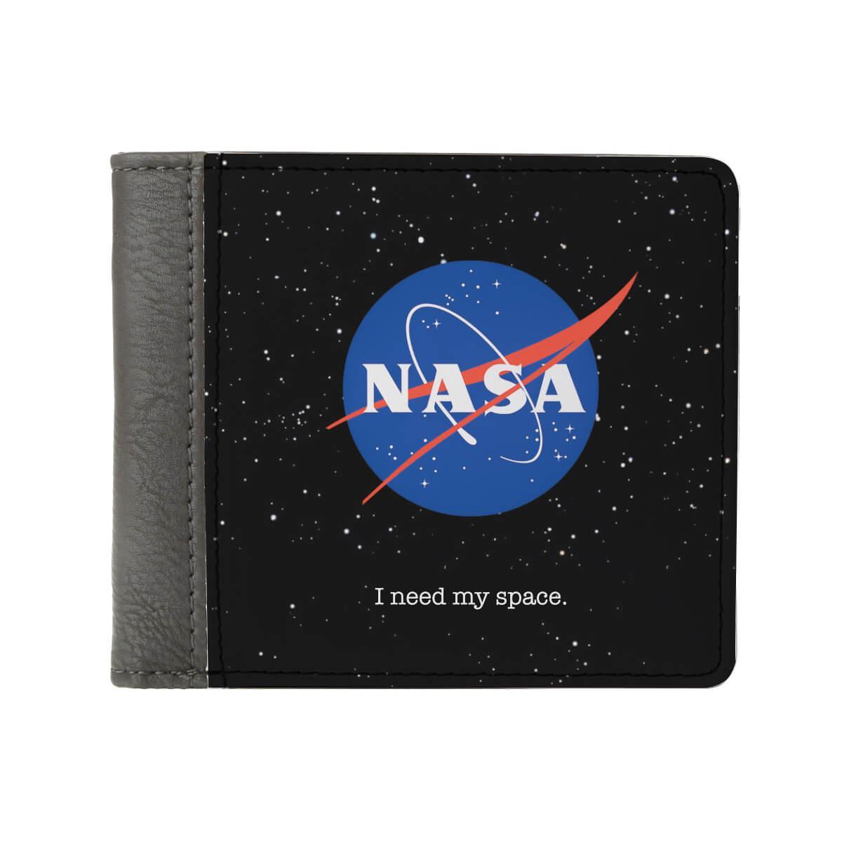 Кошелек чёрный ZIZ НАСА оригинальный с изображением ( картинкой )