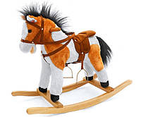 Лошадка-качалка Milly Mally Patch темно-коричневая, фото 1