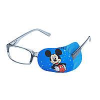 """Окклюдер на очки текстильный детский """"Микки"""""""