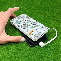 Повербанк з принтом Річний патерн 10000 mAh Powerbank повер банк power bank портативний, зовнішній акумулятор, фото 1