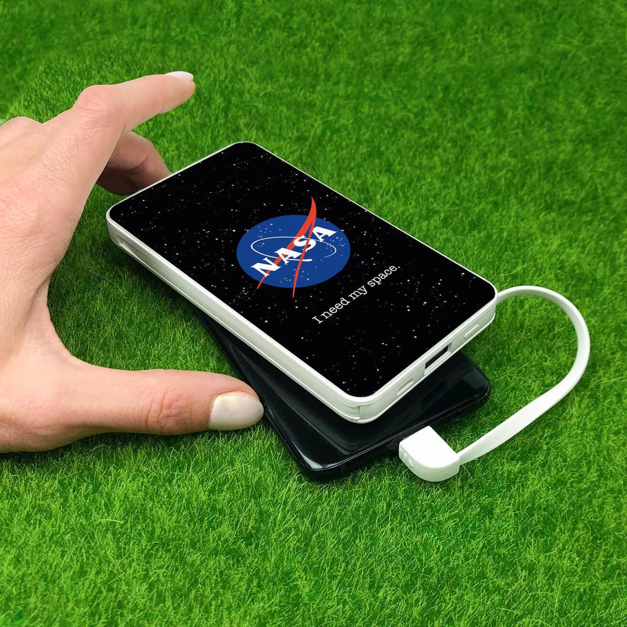 Повербанк з малюнком ZIZ НАСА 10000 mAh Powerbank, повер банк, power bank, портативний акумулятор