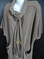 Женские кофты-туники больших размеров с шарфом. , фото 1