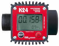 Электронный счетчик К24. Расходомер жидкости, воды, топлива - с переходной муфтой в комплекте.