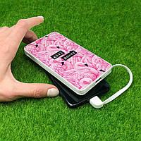 Повербанк с рисунком Фламинго 10000 mAh Powerbank, повер банк, power bank, портативный, внешний аккумулятор, фото 1