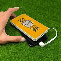 Повербанк ZIZ Сон для слабаков 10000 mAh Powerbank, повер банк, power bank, портативный, внешний аккумулятор, фото 1