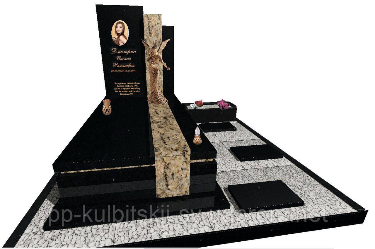 Елітний пам'ятник надгробний гранітний одинарний N7123
