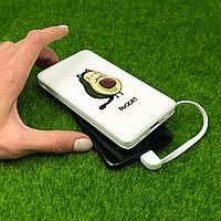 Повербанк с рисунком ZIZ Авокот 10000 mAh Powerbank, повер банк, power bank, портативный аккумулятор