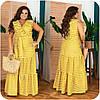 Женское длинное коттоновое платье в полоску больших размеров 48-62, фото 7