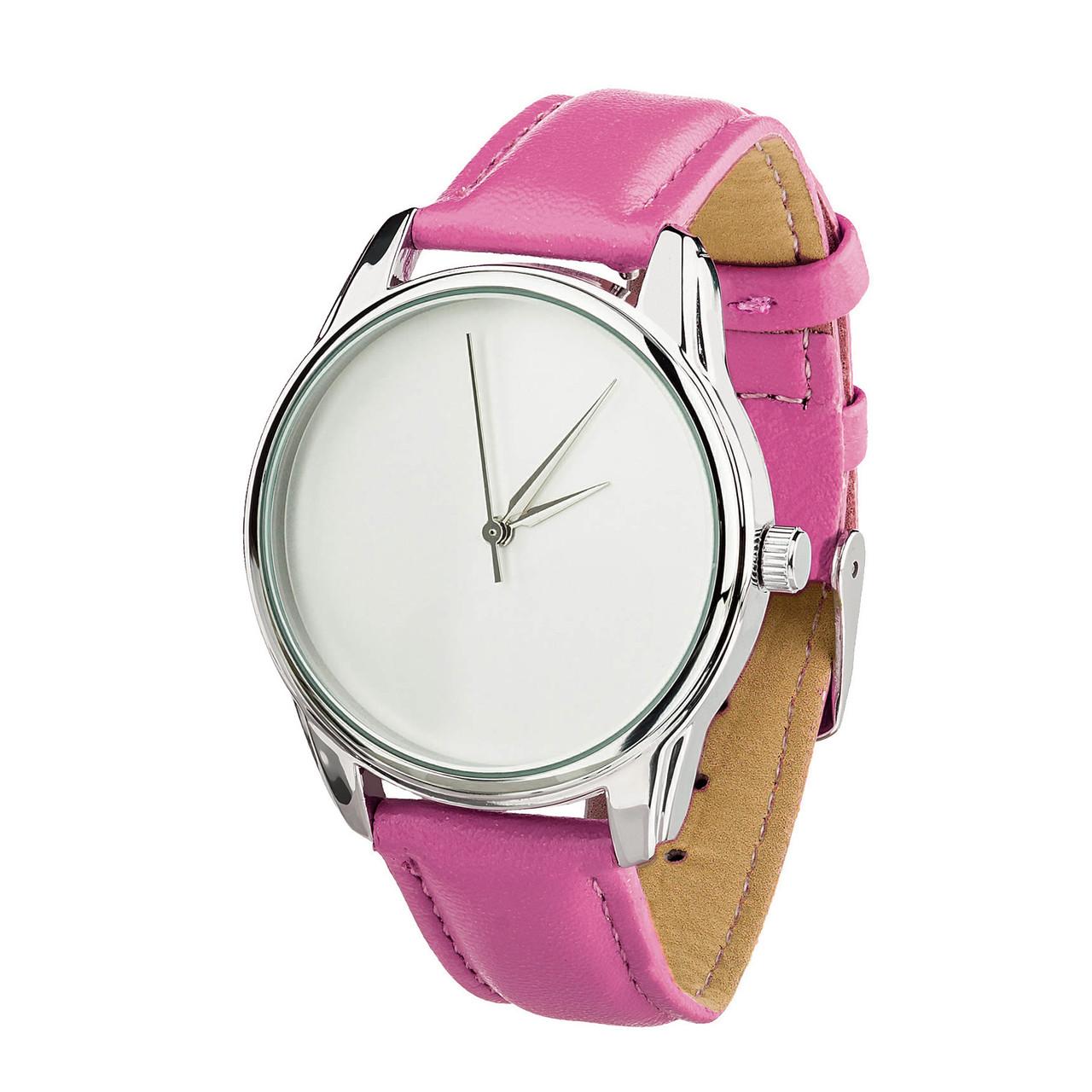 Годинник ZIZ Мінімалізм (ремінець малиновий, срібло) + додатковий ремінець