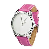 Годинник ZIZ Мінімалізм (ремінець малиновий, срібло) + додатковий ремінець, фото 1
