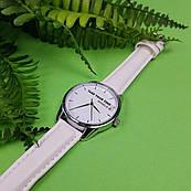 Часы ZIZ Выключи мир (ремешок кокосово - белый, серебро) + дополнительный ремешок