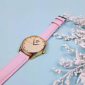 Часы ZIZ Сердечко (ремешок пудрово - розовый, золото) + дополнительный ремешок
