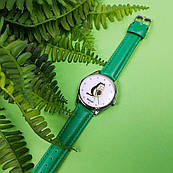 Часы ZIZ Авокот (ремешок изумрудно - зеленый, серебро) + дополнительный ремешок