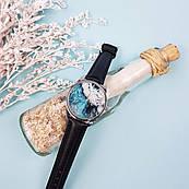 Часы ZIZ Океаническая волна (ремешок насыщенно - черный, серебро) + дополнительный ремешок
