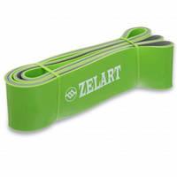 Эспандер ленточный двухслойный Zelart 2080х64х4,5 XL, резинка для фитнеса, лента сопротивления