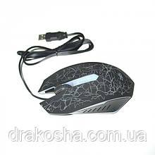 USB мышка Zeus M-110 проводная мышь с подсветкой Чёрная