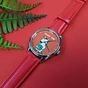 Часы ZIZ Единорог (ремешок маково - красный, серебро) + дополнительный ремешок