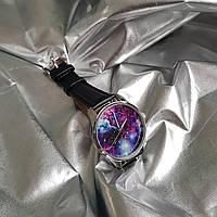 Годинник ZIZ Галактика (ремінець насичено - чорний, срібло) + додатковий ремінець, фото 1