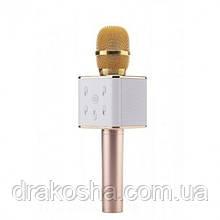 Беспроводной микрофон караоке блютуз Q7 Bluetooth динамик USB